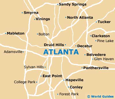 Atlanta map of The Painting Pros